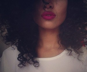 hair, lips, and curls image