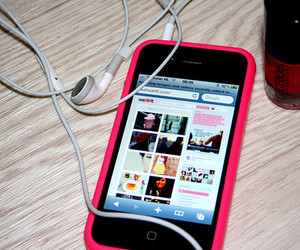 iphone, pink, and we heart it image