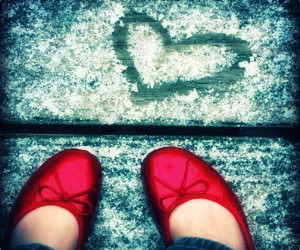 shoes, red, and heart image