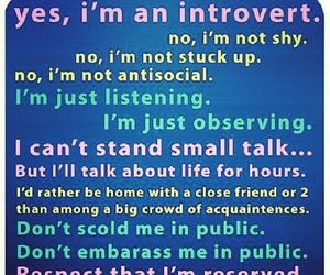 introvert, quote, and shy image