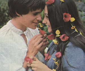 couple, romeo and juliet, and flowers image