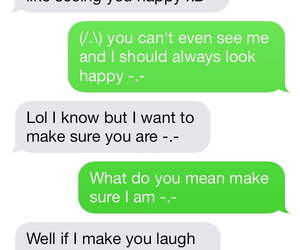 smile, text, and he cares image