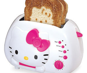 hello kitty, toaster, and pink image