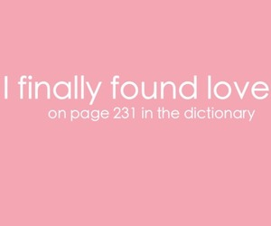 love, dictionary, and quote image