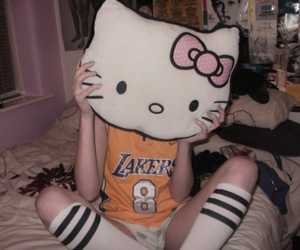 lakers and hello kitty pillow image