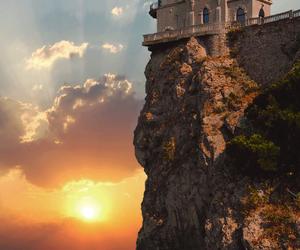 castle, sunset, and ukraine image