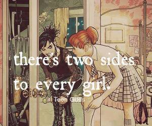 girl, side, and quote image