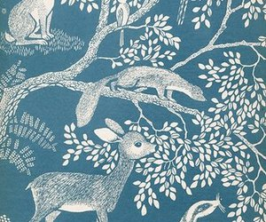 blue, animals, and deer image