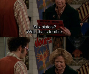 that 70's show, sex pistols, and funny image