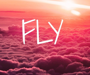 fly, sky, and clouds image