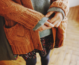 sweater, autumn, and style image