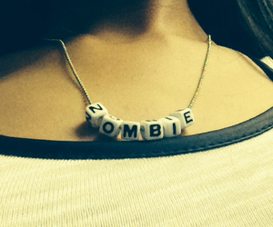 necklace, zombie, and love image