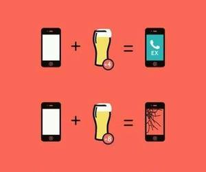 beer, funny, and drunk image