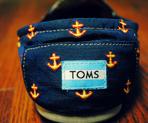 toms, anchor, and shoes image