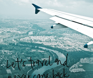 travel, quote, and plane image