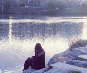 girl, alone, and lonley image
