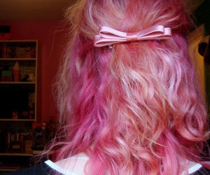 pink hair, bow, and girl image