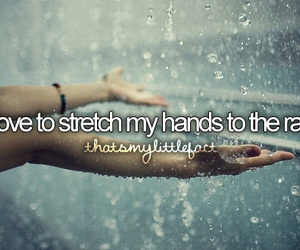 hands, rain, and stretching image
