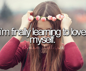 love, myself, and quote image