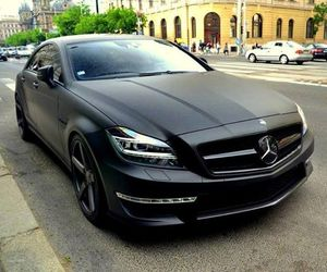 black, mercedes, and benz image