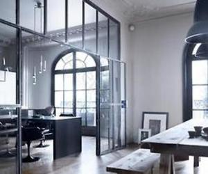 black, interior, and glass image