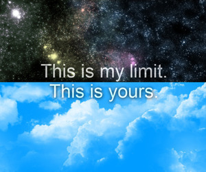 limit, sky, and quote image