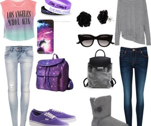 backpack, fashion, and galaxy image