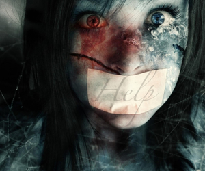 dubstep, girl, and horror image