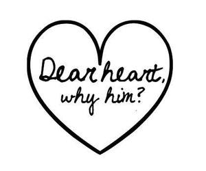 heart, love, and him image