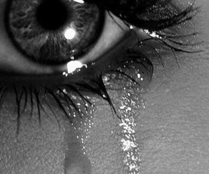 black and white, sad, and cry image