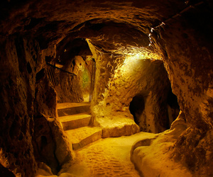 cave, tunnel, and underground city image