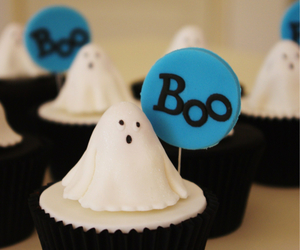cupcake, boo, and ghost image