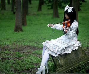 asian, dress, and nature image