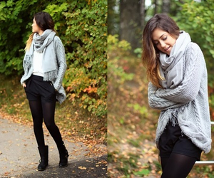 autumn, cardigan, and clothes image