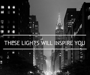 lights, city, and new york image