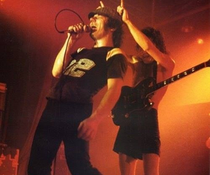 ACDC, angus young, and brian johnson image