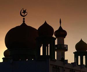 mosque islam sunset image