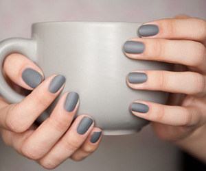 coffee, nails, and girl image