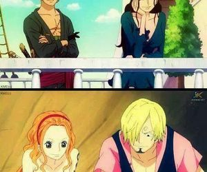 cute couple, one piece, and sanna image