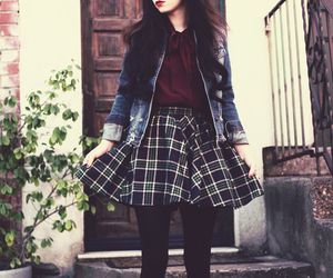 ankle boots, plaid, and tartan image