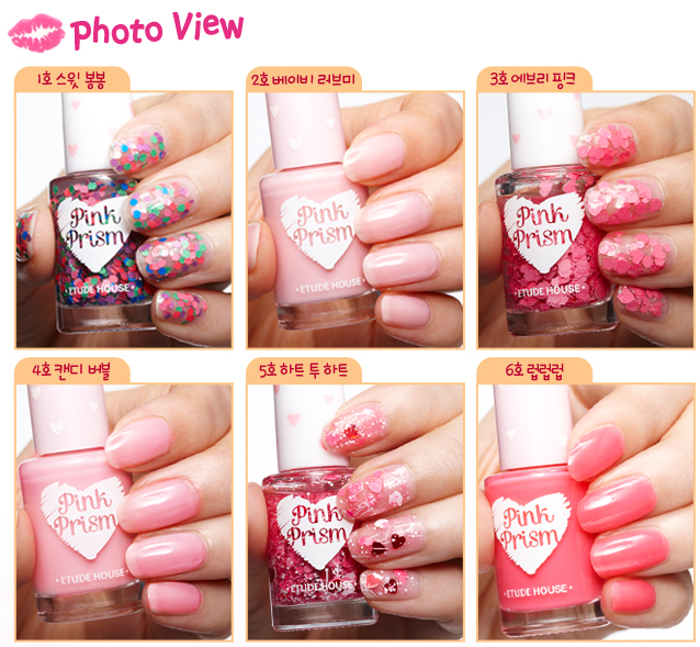 Etude House Pink Prism mini nail polish collection |At First Wink
