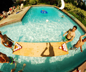 pool, boy, and summer image