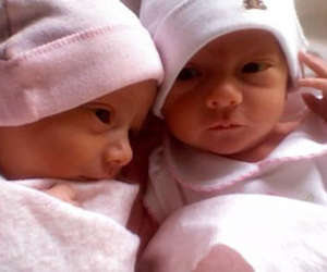 adorable, tiny, and twin girls image