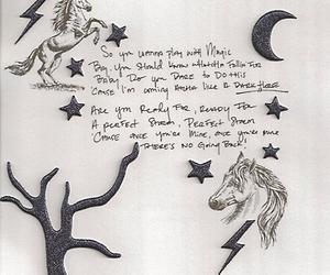 katy perry, dark horse, and Lyrics image