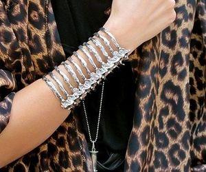 fashion, bracelet, and leopard image