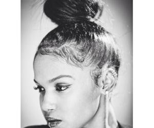 african american, beautiful, and bun image