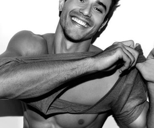 black and white, smile, and perfect image