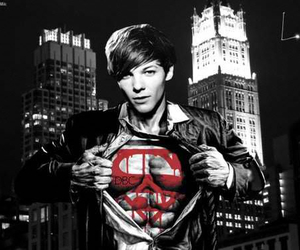 one direction, superman, and louis tomlinson image