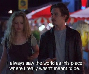 before sunrise, quote, and celine image