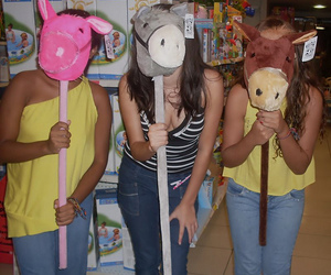 fun, girls, and horse image